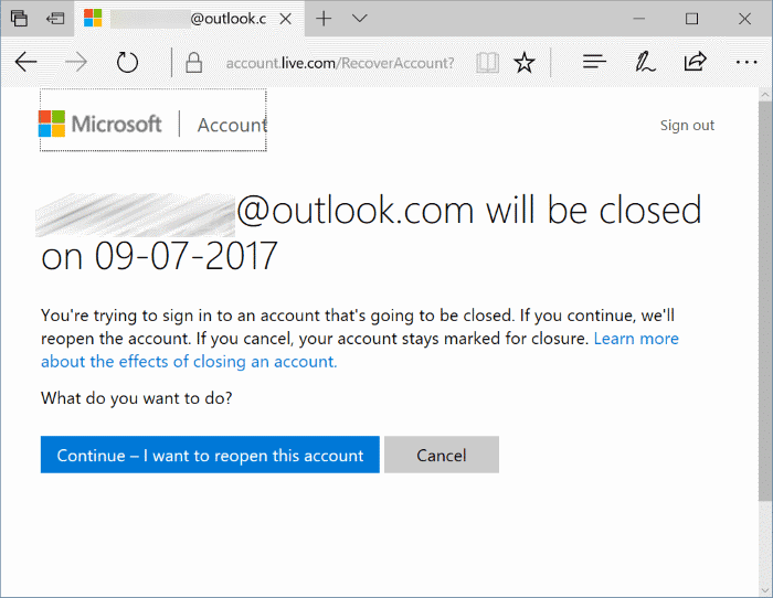 reopen closed Microsoft account pic1
