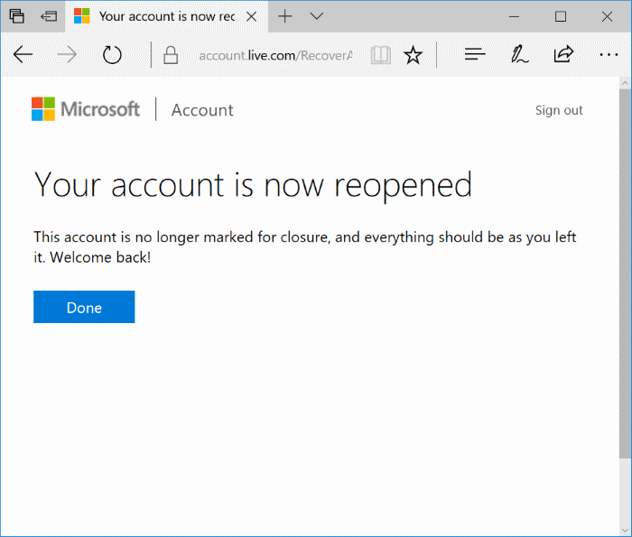 How To Reopen Your Closed Microsoft Account