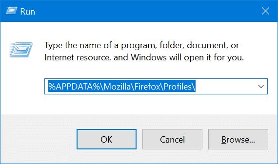 Mozilla Firefox profile location in Windows 10 pic1
