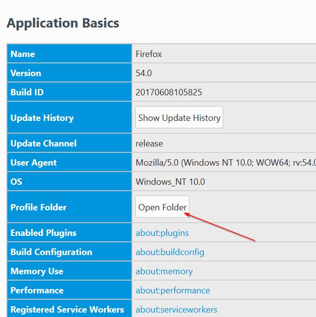 Mozilla Firefox profile location in Windows 10 pic4
