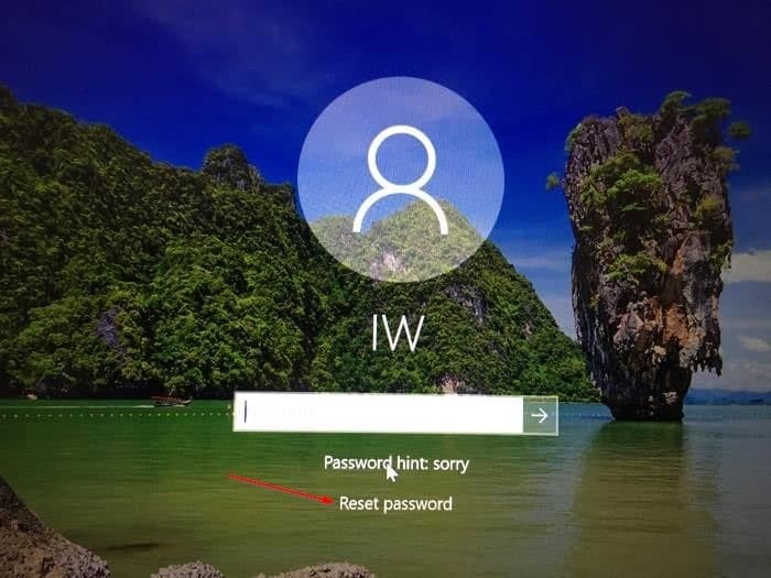 change forgotten windows 10 password pic2