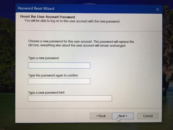 change forgotten windows 10 password pic5