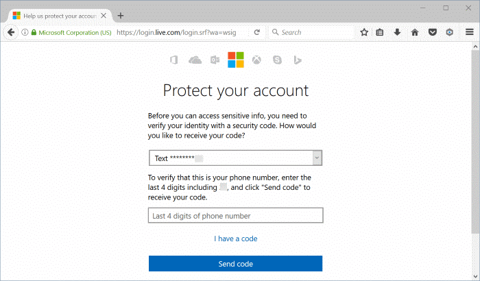 change microsoft account phone number pic5