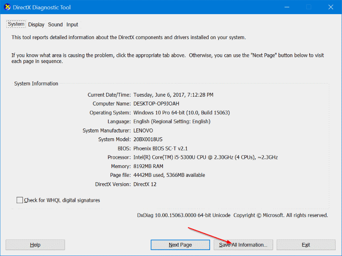 check if your Windows 10 PC supports miracast pic2