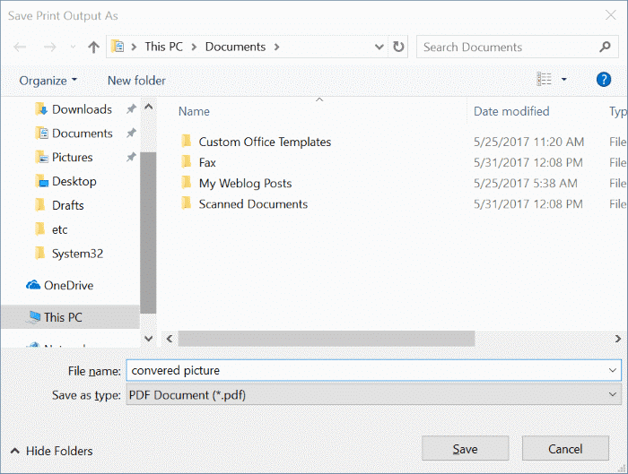 convert jpeg and png pictures to pdf in windows 10 pic3