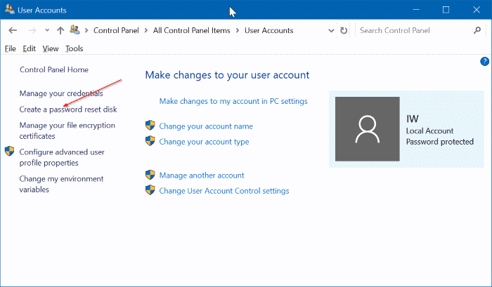 create windows 10 password reset disk on usb pic3
