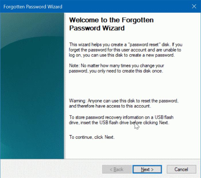 create windows 10 password reset disk on usb pic4