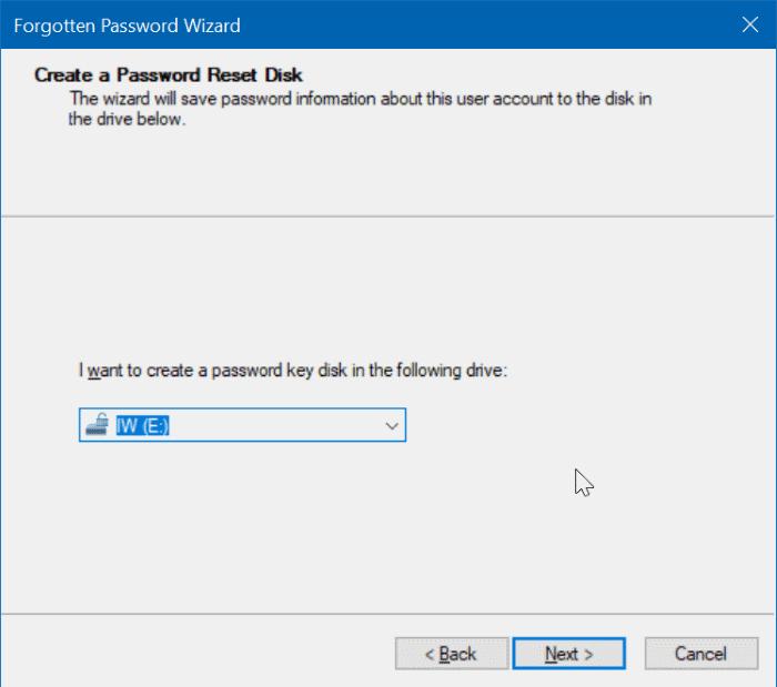 create windows 10 password reset disk on usb pic5