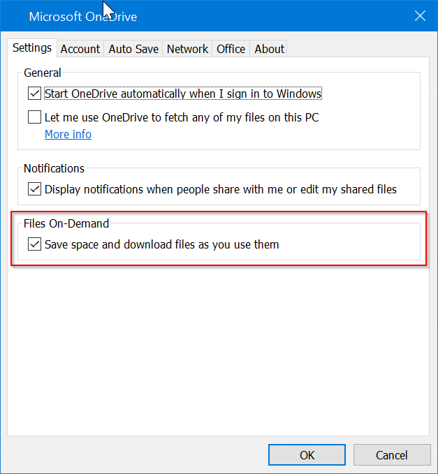 enable or disable onedrive files on demand in windows 10 pic4