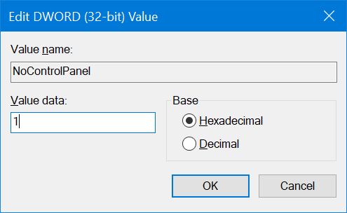 enable or disable settings in Windows 10 pic7