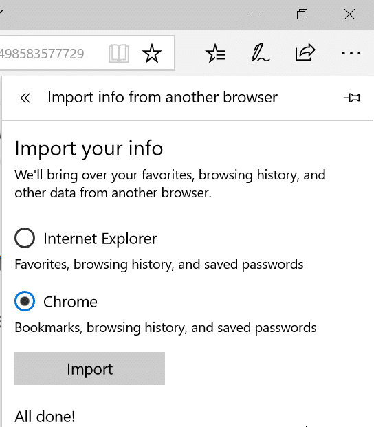 import passwords from Chrome to Edge pic4