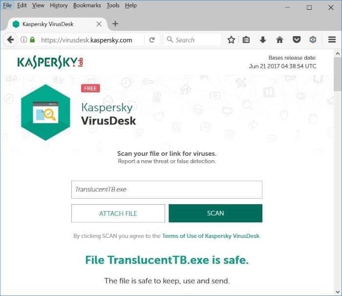 kaspersky virusdesk scan files online using kaspersky pic2