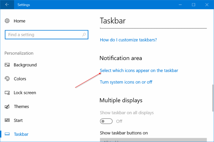 notification area icons area not hiding in Windows 10 pic3