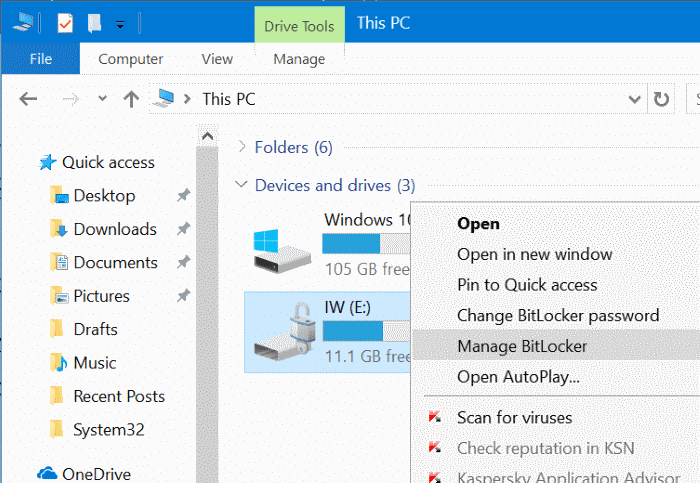 password protect USB drives in Windows 10 pic10