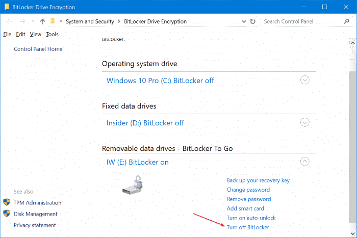 password protect USB drives in Windows 10 pic11
