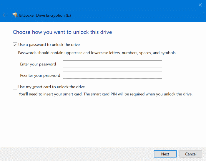 password protect USB drives in Windows 10 pic2