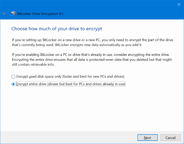 password protect USB drives in Windows 10 pic4