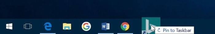 pin websites to taskbar in Windows 10 pic3