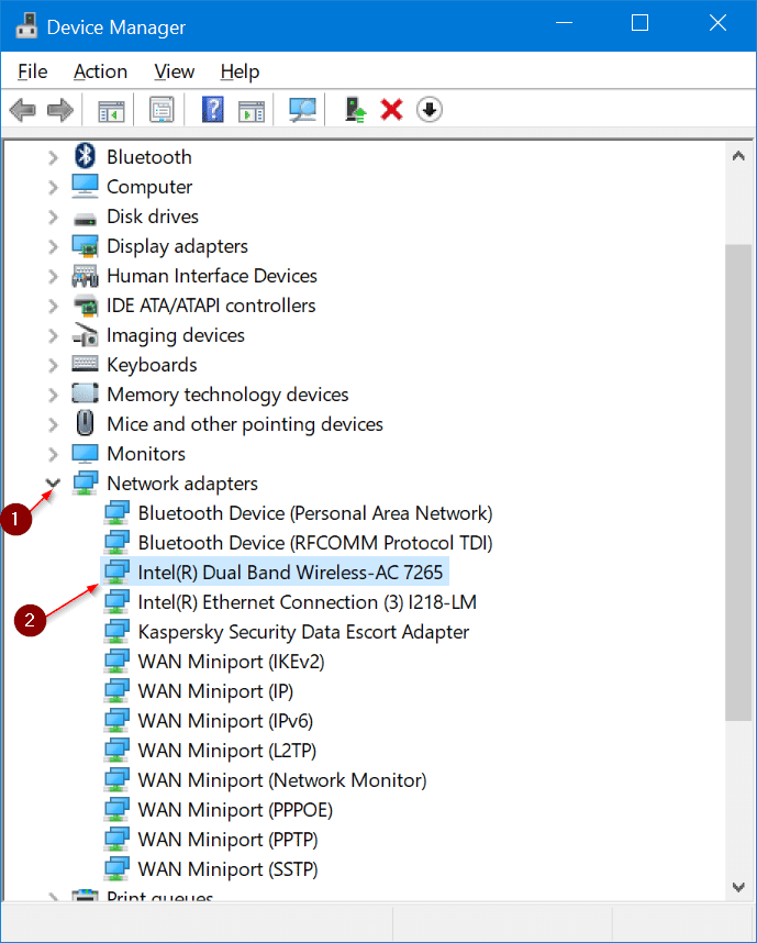 reinstall WiFi driver in Windows 10 pic02