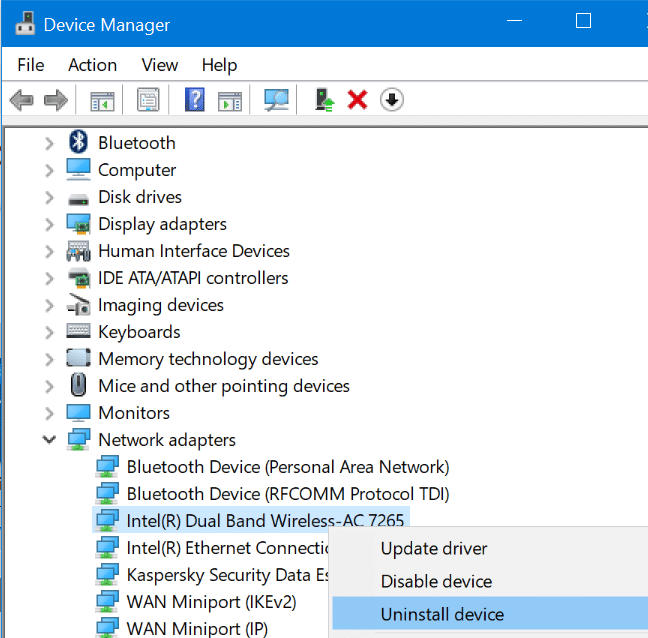 reinstall WiFi driver in Windows 10 pic03