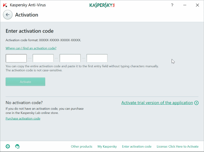 transfer kaspersky license to another computer