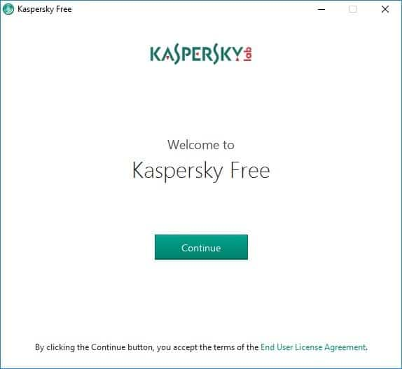 Kaspersky Antivirus Free for Windows 10 pic01