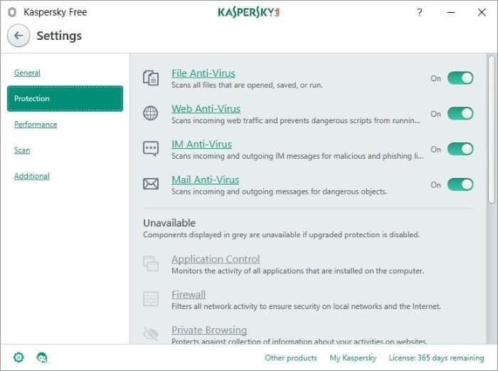 Kaspersky Antivirus Free for Windows 10 pic2