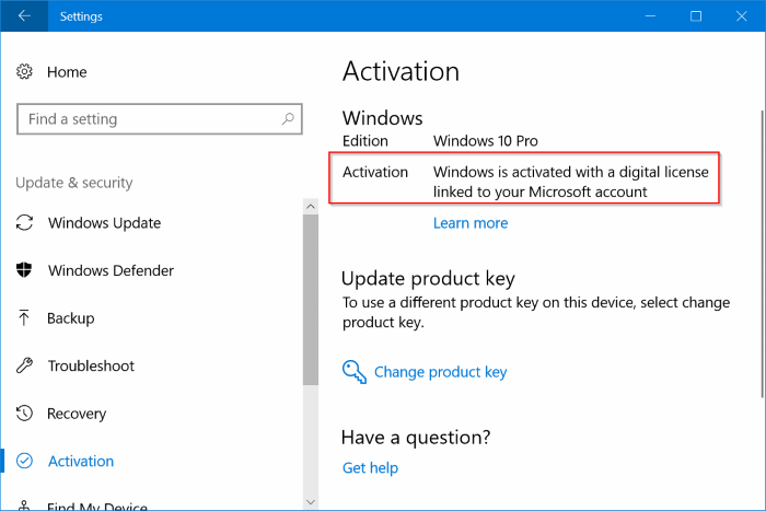 Reinstall Windows 10 without losing activation license1
