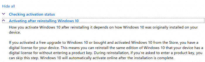 Reinstall Windows 10 without losing activation license2