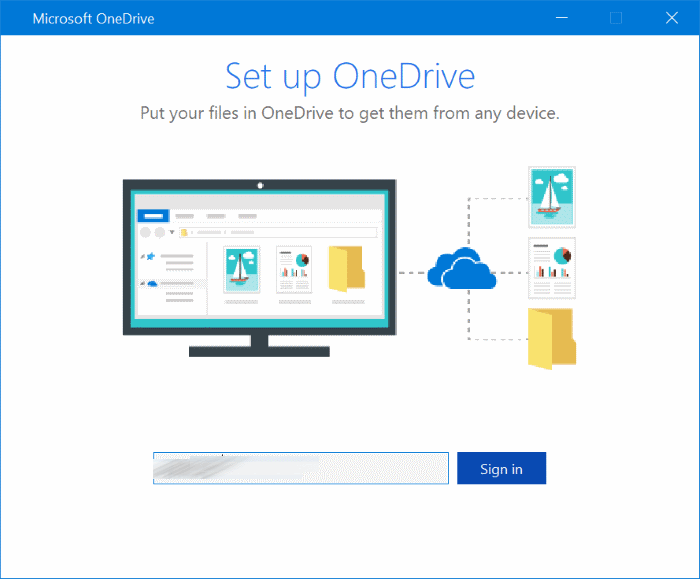 Your OneDrive folder can't be created in the location you selected pic3