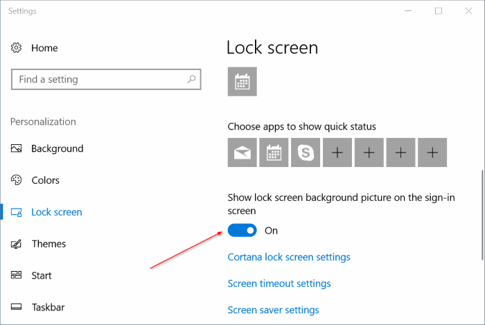 automatically change lock screen background picture in Windows 10 pic2