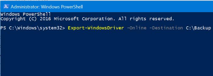 backup Windows 10 drivers pic2
