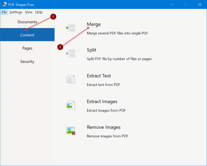 combine or merge pdf files in Windows 10 free pic1