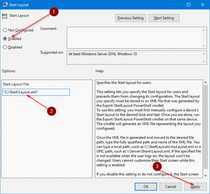export and import Start menu layout in Windows 10 pic6