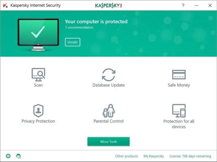 reinstall kaspersky without losing license