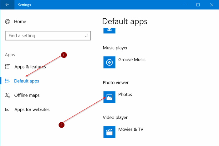 Remove Edit With Photos Option From Windows 10 Context Menu