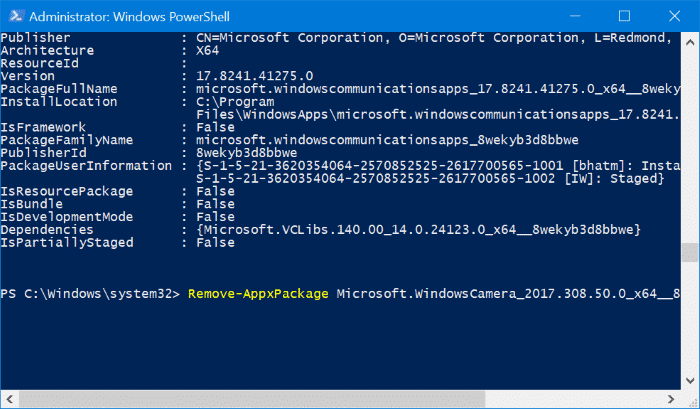 reset and reinstall Camera in Windows 10 pic8