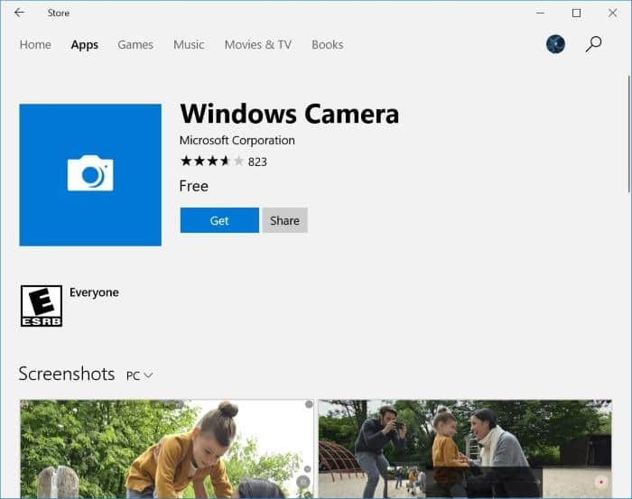 reset and reinstall Camera in Windows 10 pic9