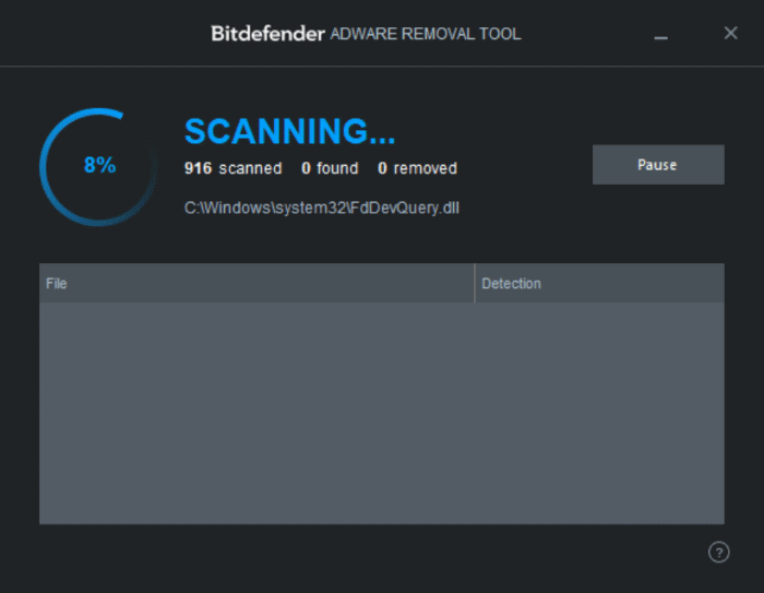 BitDefender adware removal tool for Windows 10 pic2