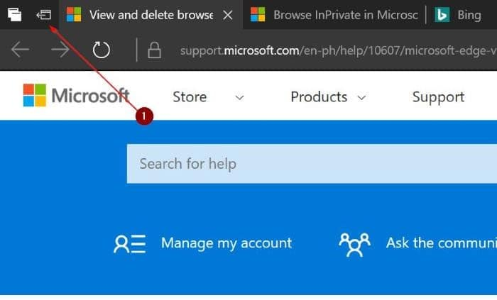 how to close malicious tabs in microsoft edge