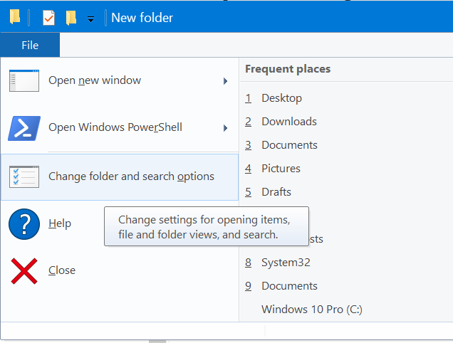 open files and folders with single click in Windows 10 pic1