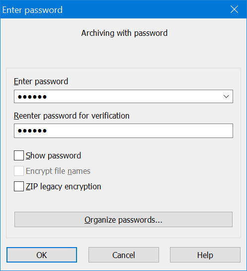 windows password protect text file