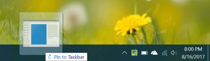 pin any file to Windows 10 taskbar pic6