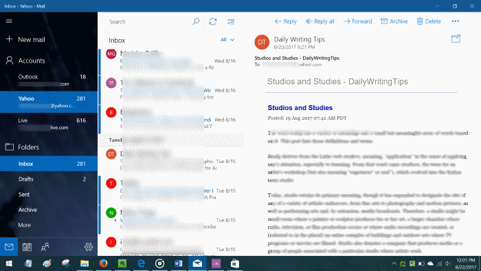 save emails as PDFs in Windows 10 pic1