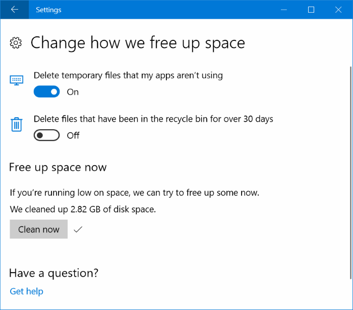 16 ways to free up drive space in windows 10 pic14
