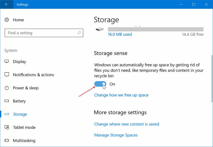 Automatically delete previous Windows installation files in Windows 10 pic1