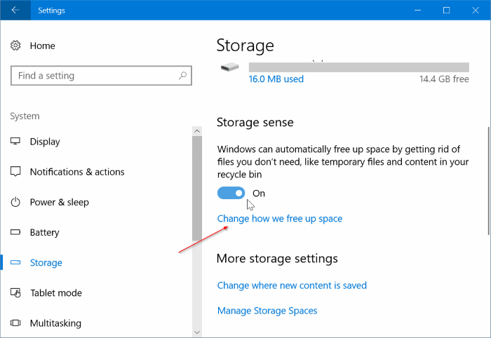 Automatically delete previous Windows installation files in Windows 10 pic2