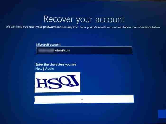 Reset Microsoft account password from login screen in Windows 10 (1)