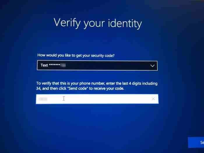 Reset Microsoft account password from login screen in Windows 10 (2)