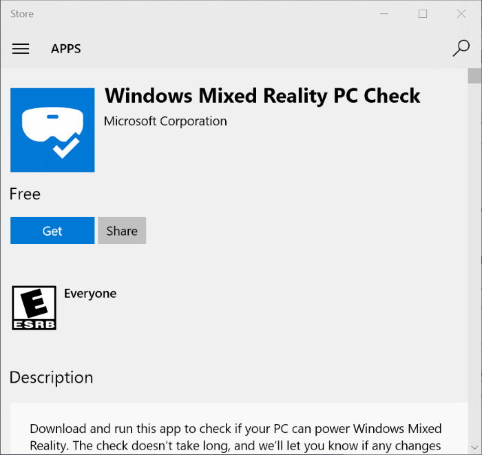 Windows mixed reality PC check check if your PC supports Windows 10 mixed reality pic1